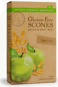 gluten free apple oat scones